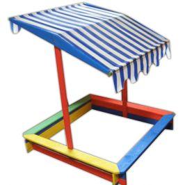 Rojaplast Dětské barevné pískoviště se stříškou