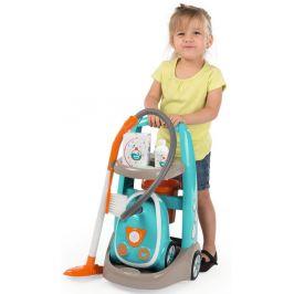 Smoby Vozík pro malou uklízečku s vysavačem-modrá - rozbaleno