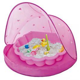 Paradiso Stan s pískovištěm bazénem mušle růžový