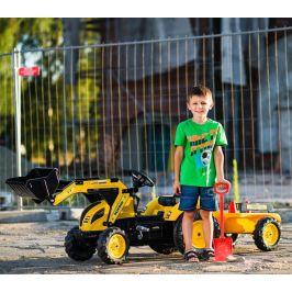 Falk Traktor šlapací Komatsu s přední i zadní lžící a valníkem