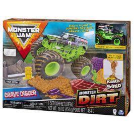 Spin Master Monster Jam Sada s tekutým pískem Deluxe Grave Digger
