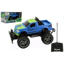 Teddies Auto RC terénní plast 30cm velká kola na dálkové ovládání modré - rozbaleno