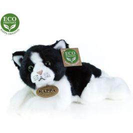 Rappa Plyšová kočka bílo-černá ležící, 16 cm, ECO-FRIENDLY