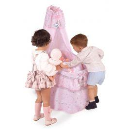 DeCuevas 51034 Pojízdná postýlka pro panenky s nebesy a doplňky Magic Maria