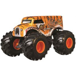 Hot Wheels Monster trucks Velký truck Tiger shark Pit Crew