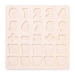Woody Puzzle Číslice masivní na desce