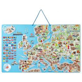 Woody Magnetická mapa EVROPY, společenská hra 3 v 1, ČJ