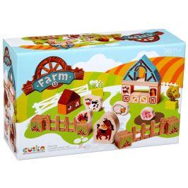 CUBIKA CUBIKA 14842 Farma dřevěná stavebnice s kartonovými doplňky
