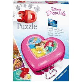 Ravensburger 3D Puzzle 112340 Srdce Disney princezny 54 dílků