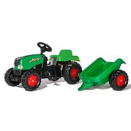 Rolly Toys Šlapací traktor Rolly Kid s vlečkou - zelená - rozbaleno