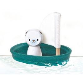 Plan Toys Plachetnice s ledním medvědem - rozbaleno