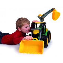 LENA Traktor se lžící a bagrem, zeleno žlutý - zánovní