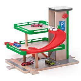 Woody Garáž s výtahem a SIKU autíčky - zánovní