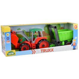 LENA Auto Truxx traktor nakladač s přívěsem s figurkou