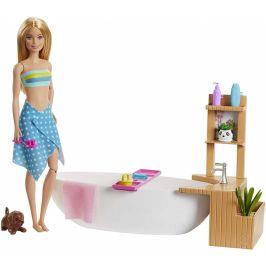 Mattel Barbie Wellness panenka v lázních herní set - rozbaleno