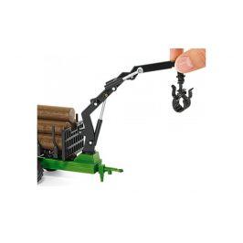 SIKU Farmer - Traktor John Deere s lesním přívěsem 1:50 - zánovní