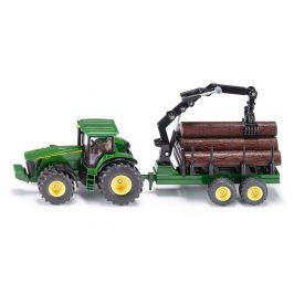 SIKU Farmer - Traktor John Deere s lesním přívěsem 1:50 - rozbaleno