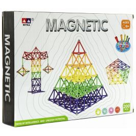 Teddies Magnetická stavebnice 200 ks - rozbaleno