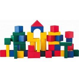 Woody Stavebnice kostky barevné 50ks