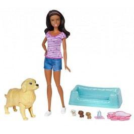 Mattel Barbie Narození štěňátek brunetka