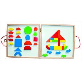 Woody Magnetický kreativní kufřík s tvary - zánovní