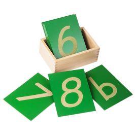 Montessori pomůcky Smirkové číslice skrabičkou - rozbaleno