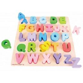 Bigjigs Toys Dřevěná motorická vzdělávací hračka - Abeceda velká písmena