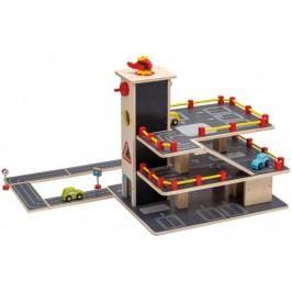 Johntoy Dřevěná garáž s autíčky