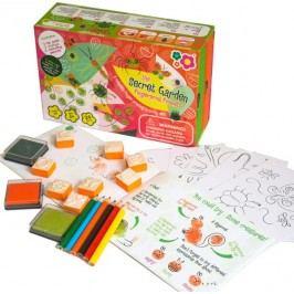 Meadow Kids Výtvarná sada s razítky Zahrada