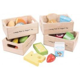 Bigjigs Toys Set zdravých potravin ve čtyřech krabičkách II.