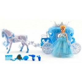 Teddies Kůň s kočárem + panenka s doplňky