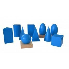 Montessori pomůcky Geometrická tělesa s podstavci - II. jakost
