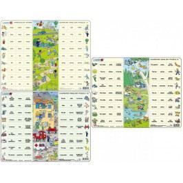LARSEN Hodina angličtiny puzzle 3 MAXI