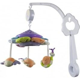 Sun Baby Kolotoč nad postýlku s plyšovými hračkami s projektorem, světlé barvy