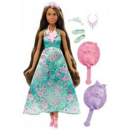 Mattel Barbie Kouzelné barevné vlasy brunetka
