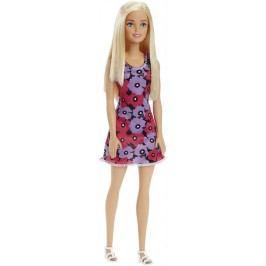 Mattel Barbie v šatech černých s fialovo-růžovými květinami