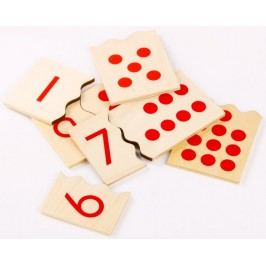 Montessori pomůcky Čísla a puntíky - puzzle