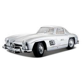 BBurago 1:24 Mercedes Benz 300SL stříbrná
