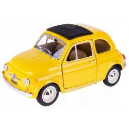 BBurago 1:24 Fiat 500 F 1965 žlutá