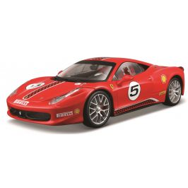 BBurago 1:24 Ferrari Racing 458 Challenge červená