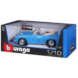 BBurago 1:18 Porsche 356B Cabriolet 1961 modrá