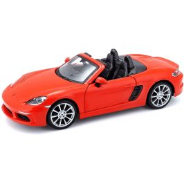 BBurago 1:24 Plus Porsche 718 Boxster oranžová
