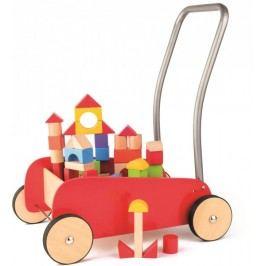 Woody Kovový vozík s dřevěnými kostkami
