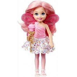 Mattel Barbie Víla Chelsea růžové vlasy