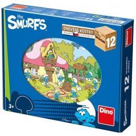 Dino Šmoulí rok kubus 12 dřevěných kostek