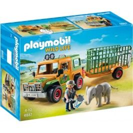 Playmobil 6937 Auto strážců zvířat s přívěsem
