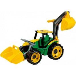 LENA Traktor se lžící a bagrem, zeleno žlutý