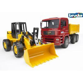 Bruder MAN nákladní auto a bagr - rozbaleno