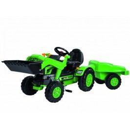 BIG BIG Šlapací traktor Jim se lžící a vozíkem