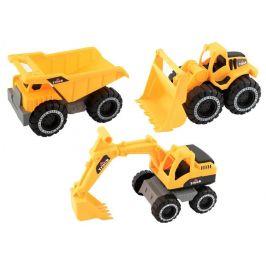 Teddies Stavební stroje na volný chod 3 ks